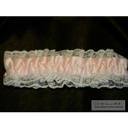 Pink Garter with White Butterfly Garter