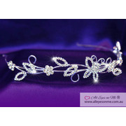 Crystal Butterfly Headband Tiara T1078