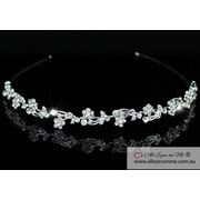 Flowers Crystal Headband Tiara T1081