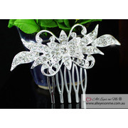 Flower Crystal Hair Comb T1338
