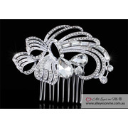 Art Deco Vintage Style Crystal Hair Comb T1696