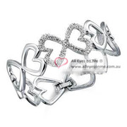 Bridesmaid  Heart Bangle Crystal XB140