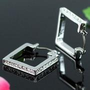 Square Earrings Crystal XE267