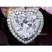 Heart Stone Ring Crystal XR182