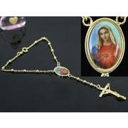 Blessed Virgin Mary Gold coloured Bracelet XSB106