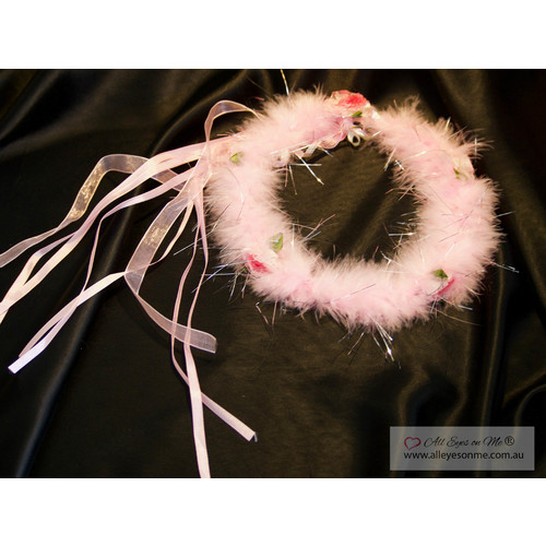 Pink Rose Fluffy Crown