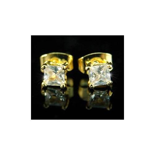 4mm  Stud Simulated Diamond Mens Earrings ME190