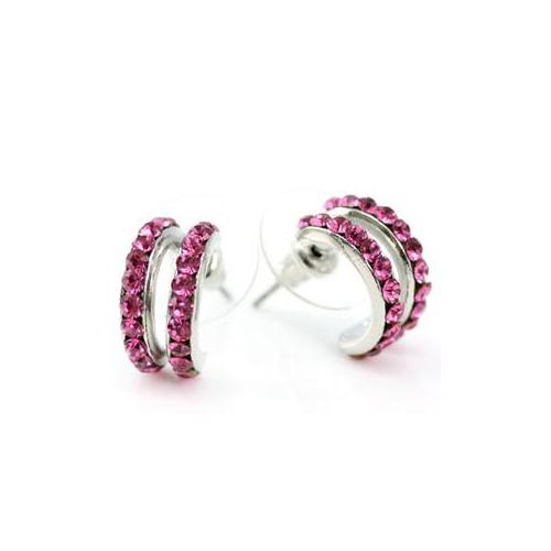 Pink Earrings Crystal XE018