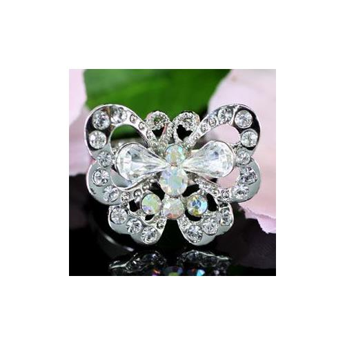 Butterfly Ring Crystal Free Size XR056