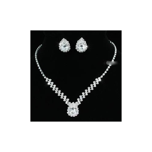 Crystal Necklace Earrings Set XS1193
