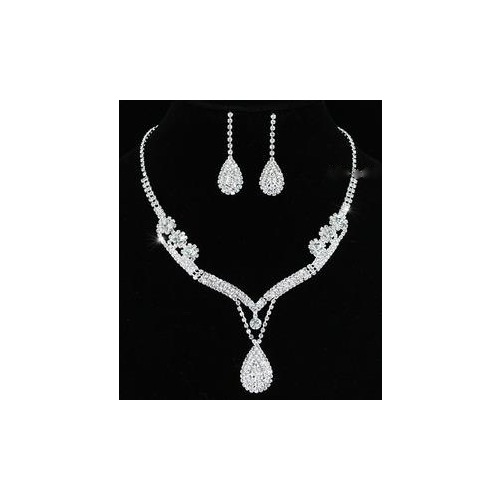 Crystal Necklace Earrings Set XS1201